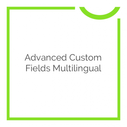 Advanced Custom Fields Multilingual 0.6