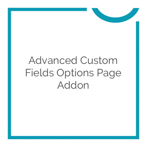 Advanced Custom Fields Options Page Addon 1.2