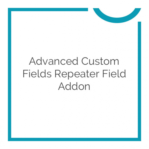 Advanced Custom Fields Repeater Field Addon 1.1.1