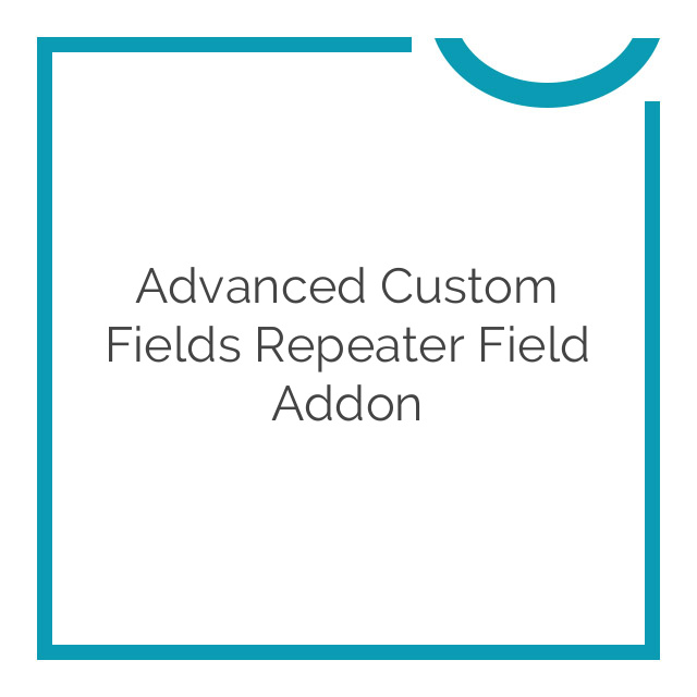 Advanced Custom Fields Repeater Field Addon 1.1.1