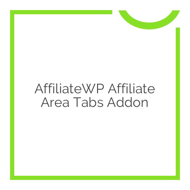 AffiliateWP Affiliate Area Tabs Addon 1.1.6