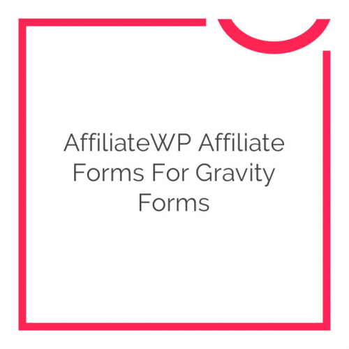 AffiliateWP Affiliate Forms for Gravity Forms 1.0.15