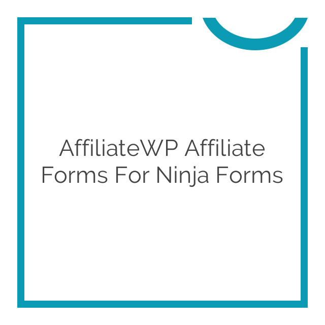 AffiliateWP Affiliate Forms For Ninja Forms 1.1.8