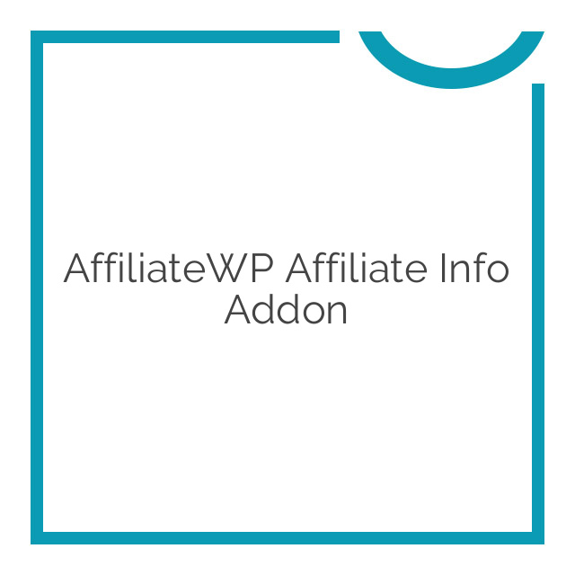 AffiliateWP Affiliate Info Addon 1.0.4