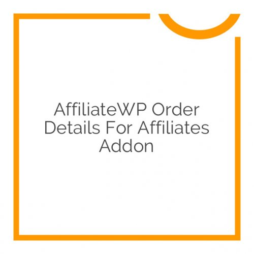 AffiliateWP Order Details For Affiliates Addon 1.1.5