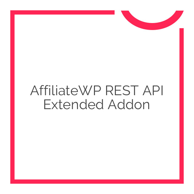 AffiliateWP REST API Extended Addon 1.0.3