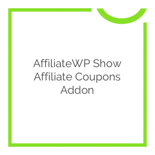 AffiliateWP Show Affiliate Coupons Addon 1.0.7