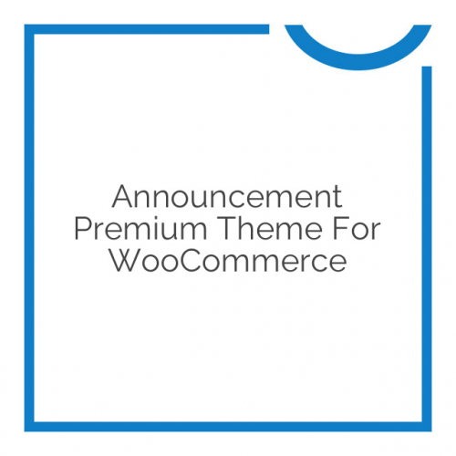 Announcement Premium Theme for WooCommerce 1.3.4