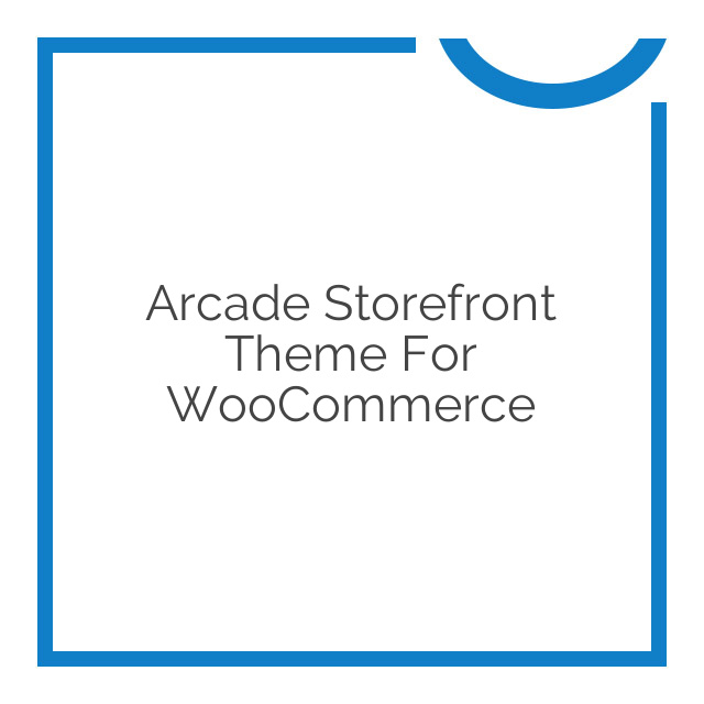 Arcade Storefront Theme for WooCommerce 2.1.3