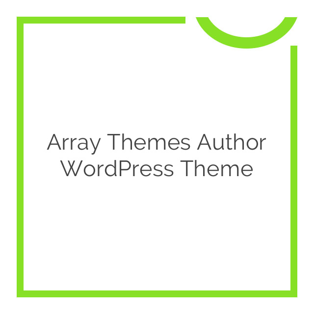 Array Themes Author WordPress Theme 4.1.4