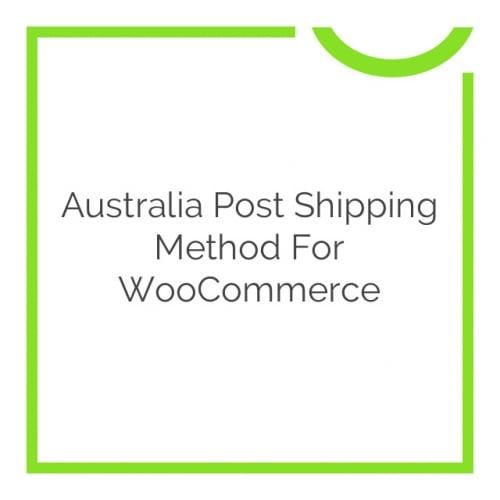 Australia Post Shipping Method for WooCommerce 2.4.5
