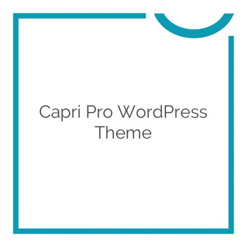 Capri Pro WordPress Theme 1.1.19