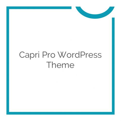Capri Pro WordPress Theme 1.1.19