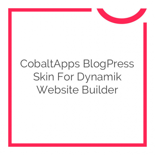 CobaltApps BlogPress Skin for Dynamik Website Builder 1.0.0