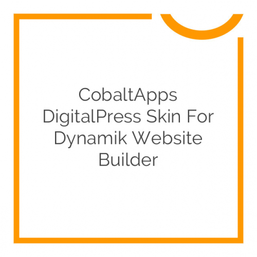CobaltApps DigitalPress Skin for Dynamik Website Builder 1.0.0
