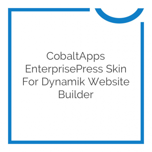 CobaltApps EnterprisePress Skin for Dynamik Website Builder 1.0.0