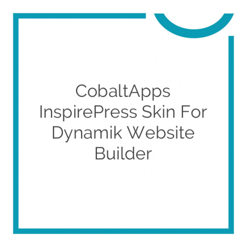 CobaltApps InspirePress Skin for Dynamik Website Builder 1.0.0