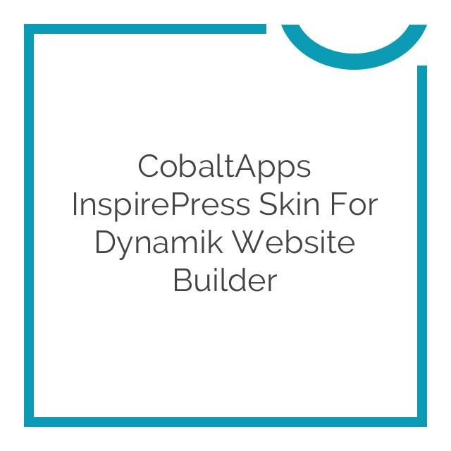 CobaltApps InspirePress Skin for Dynamik Website Builder 1.0.0
