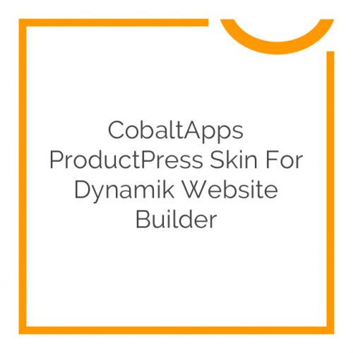 CobaltApps ProductPress Skin for Dynamik Website Builder 1.0.0