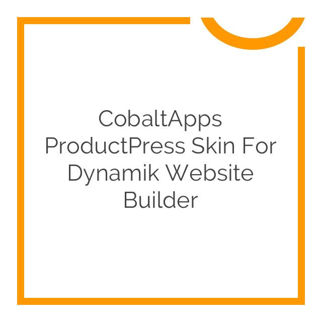 CobaltApps ProductPress Skin for Dynamik Website Builder 1.0.0