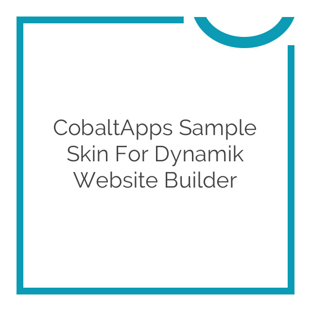 CobaltApps Sample Skin for Dynamik Website Builder 1.0.0