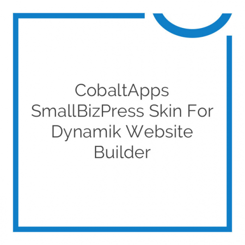 CobaltApps SmallBizPress Skin for Dynamik Website Builder 1.0.0