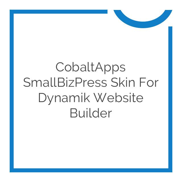 CobaltApps SmallBizPress Skin for Dynamik Website Builder 1.0.0