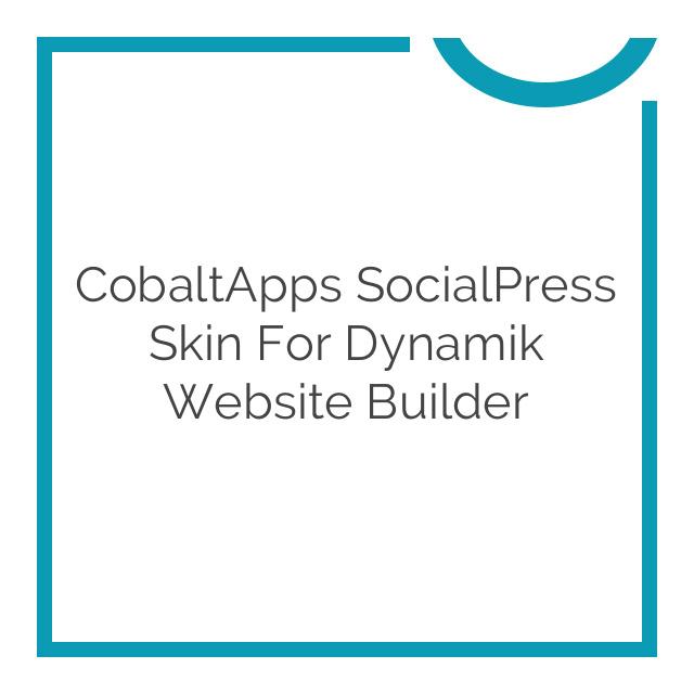 CobaltApps SocialPress Skin for Dynamik Website Builder 1.0.0