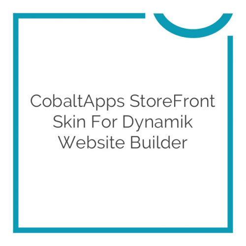 CobaltApps StoreFront Skin for Dynamik Website Builder 1.0.0