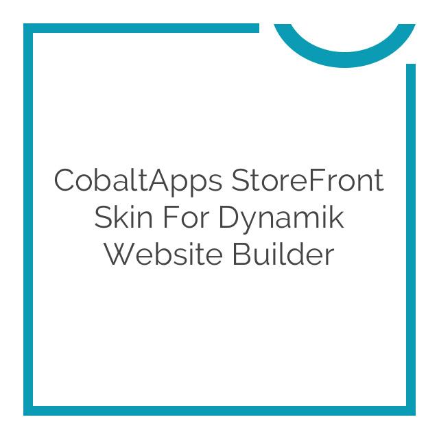 CobaltApps StoreFront Skin for Dynamik Website Builder 1.0.0