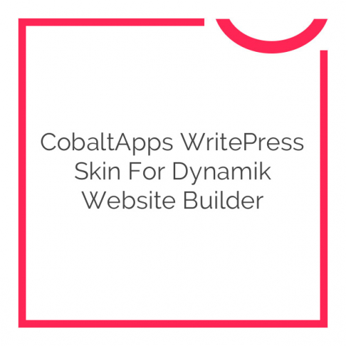 CobaltApps WritePress Skin for Dynamik Website Builder 1.0.0
