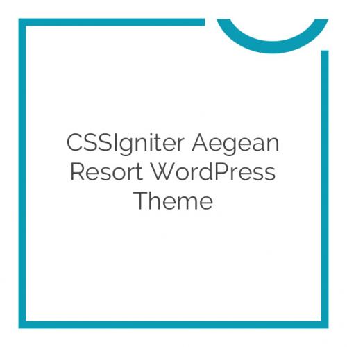 CSSIgniter Aegean Resort WordPress Theme 2.3.5