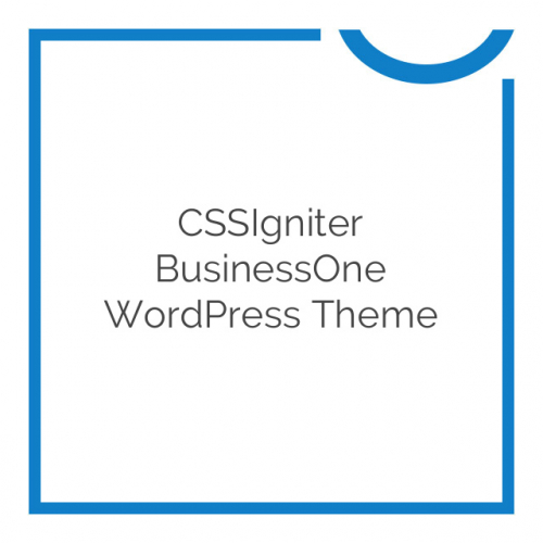 CSSIgniter BusinessOne WordPress Theme 2.2.2
