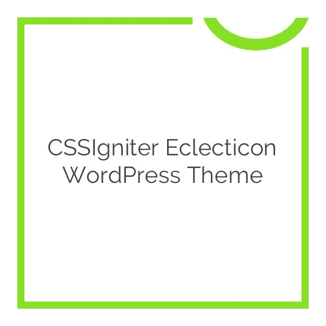 CSSIgniter Eclecticon WordPress Theme 1.1