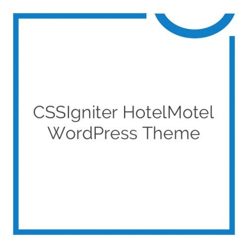 CSSIgniter HotelMotel WordPress Theme 1.6