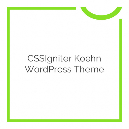 CSSIgniter Koehn WordPress Theme 1.0.0