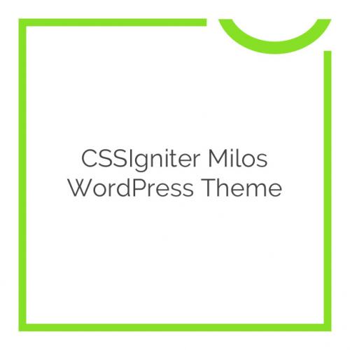 CSSIgniter Milos WordPress Theme 1.0.0