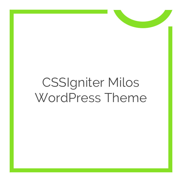 CSSIgniter Milos WordPress Theme 1.0.0
