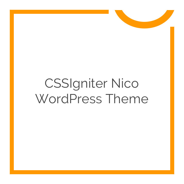CSSIgniter Nico WordPress Theme 2.4