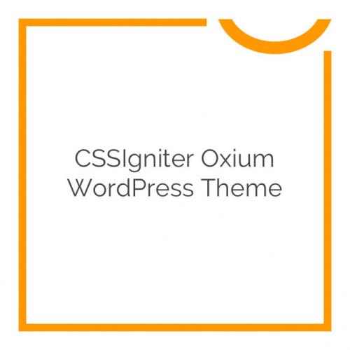 CSSIgniter Oxium WordPress Theme 1.1