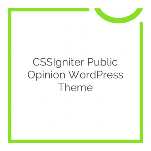 CSSIgniter Public Opinion WordPress Theme 1.1