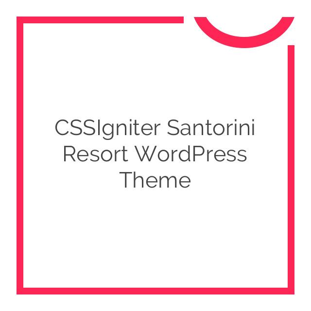 CSSIgniter Santorini Resort WordPress Theme 1.8.2