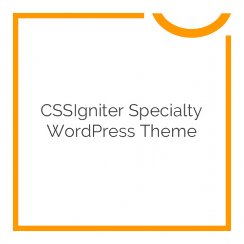 CSSIgniter Specialty WordPress Theme 1.0