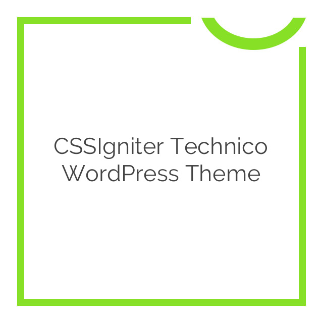 CSSIgniter Technico WordPress Theme 1.2