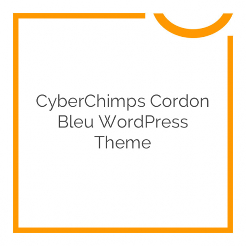 CyberChimps Cordon Bleu WordPress Theme 1.1