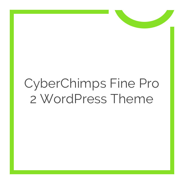 CyberChimps Fine Pro 2 WordPress Theme 1.5