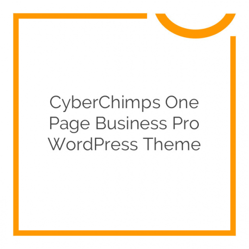 CyberChimps One Page Business Pro WordPress Theme 1.3