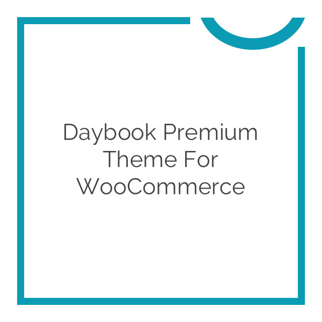 Daybook Premium Theme for WooCommerce 1.0.5