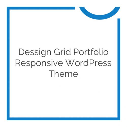 Dessign Grid Portfolio Responsive WordPress Theme 3.0