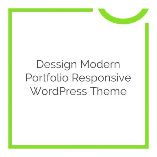 Dessign Modern Portfolio Responsive WordPress Theme 2.0.1